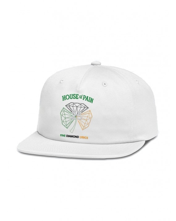 Diamond Supply Co x House Of Pain H.O.P Unstructured 6 Panel - White