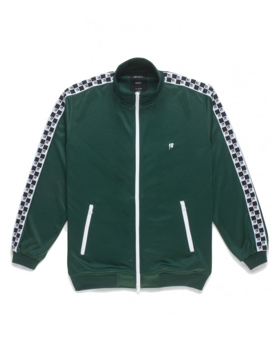 10 Deep Checkered Track Jacket - Green