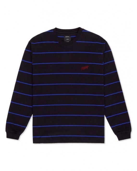 10 Deep Sound & Fury L/S Stripe - Black Blue