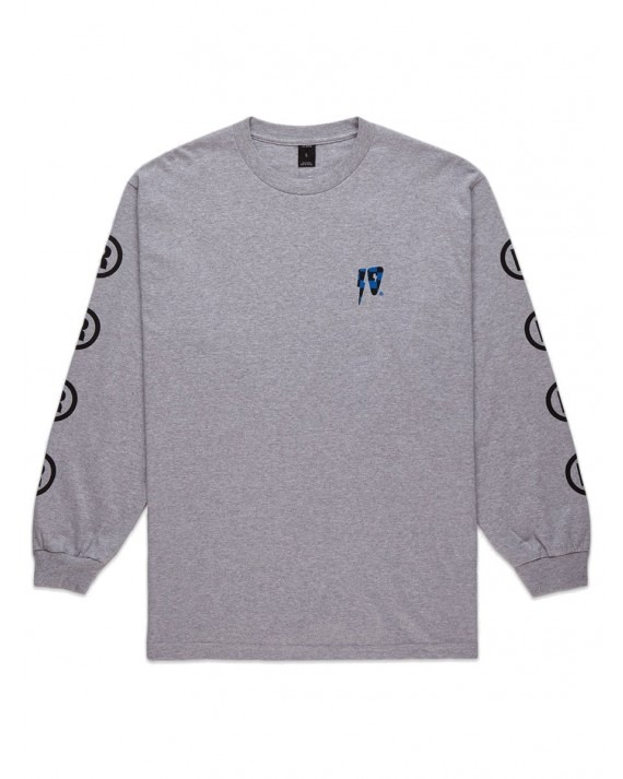 10 Deep 10 Strikes L/S T-Shirt - Heather Grey