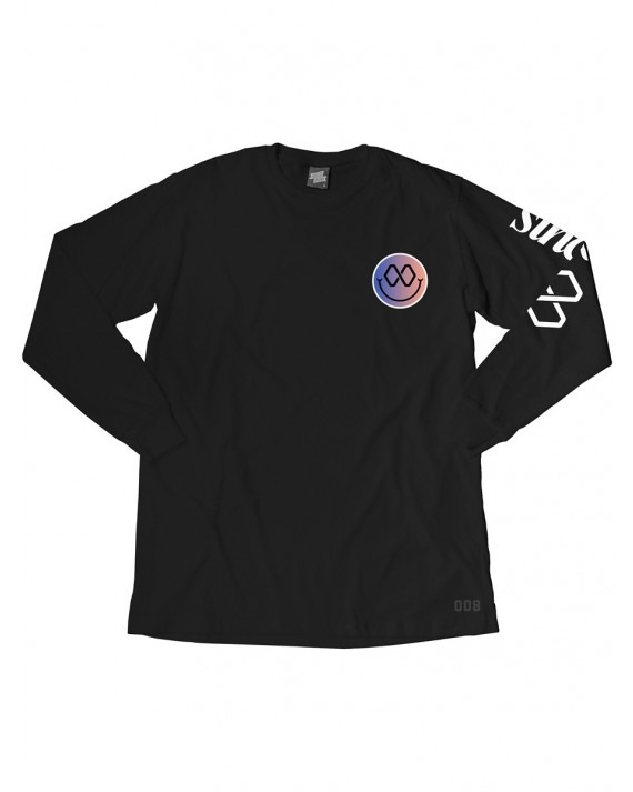 Ageless Galaxy Good Vibes Since Infinity L/S T-Shirt - Black
