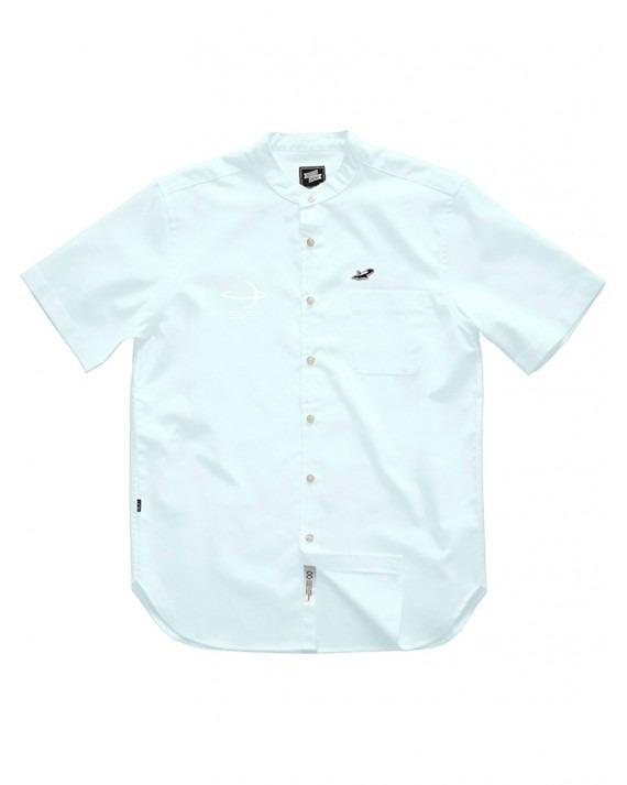 Ageless Galaxy Planet Button POD 006 Down S/S Shirt - Sky Blue