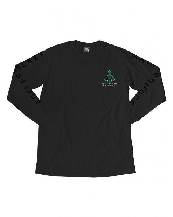 Ageless Galaxy x Main Source Breaking The Odds Since L/S T-Shirt - Black