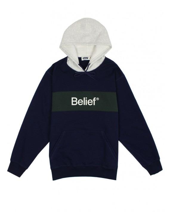 Belief Academic Premium Pullover Hoody - Midnight Navy