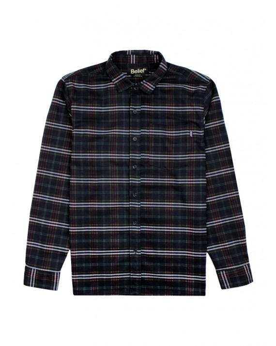 Belief Camper Flannel Shirt - Black Multi