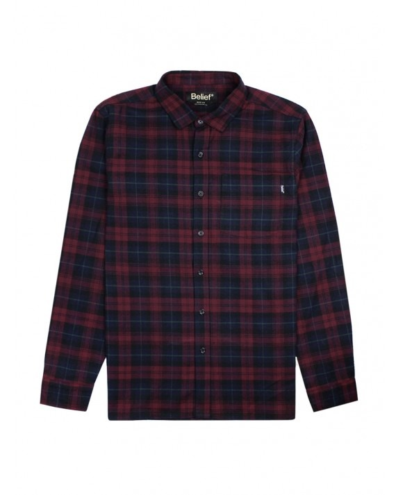 Belief Camper Flannel Shirt - Wine