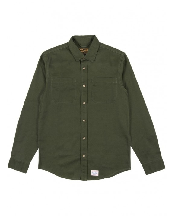 Benny Gold Anti Work Wear Twill Shirt - Olive