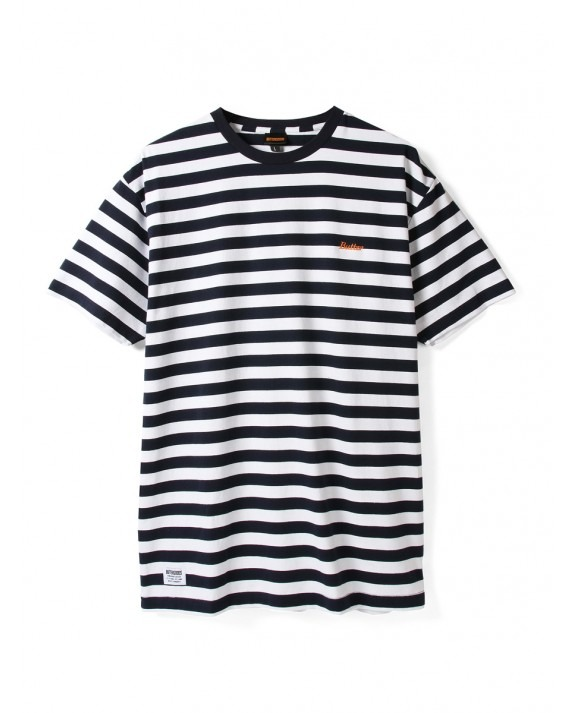Butter Goods Cycle Stripe T-Shirt - Navy White