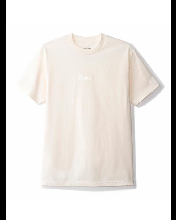 Butter Goods Classic Micro Logo T-Shirt - Cream