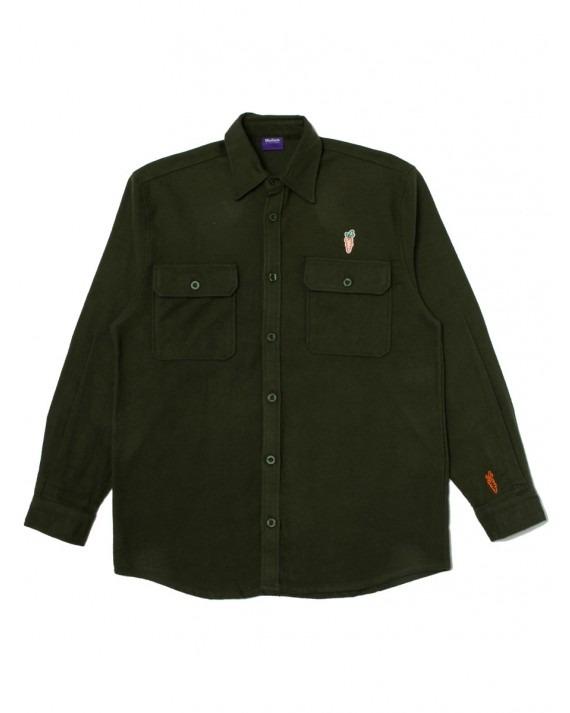 Carrots Wordmark Flannel Shirt - Olive