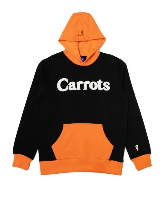 Carrots Wordmark Pullover Hoody - Black Orange