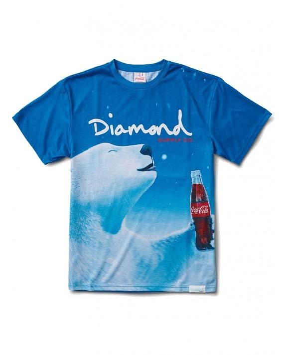 Diamond Supply Co x Coca Cola Polar Bear T-Shirt - Blue