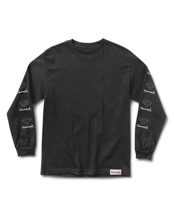 Diamond Supply OG Sign L/S T-Shirt - Black