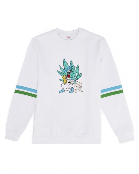 Good Worth & Co x Luke Pelletier Hold Me Crewneck - White