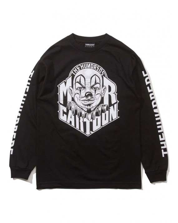 The Hundreds x Mr Cartoon Letters L/S T-Shirt - Black