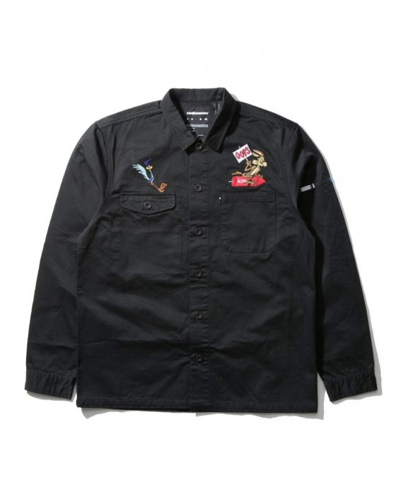 The Hundreds x Looney Tunes Drab L/S Woven Shirt - Black