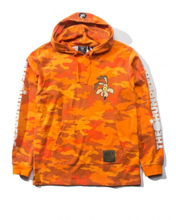 The Hundreds x Looney Tunes Failed Hooded L/S T-Shirt - Orange Camo