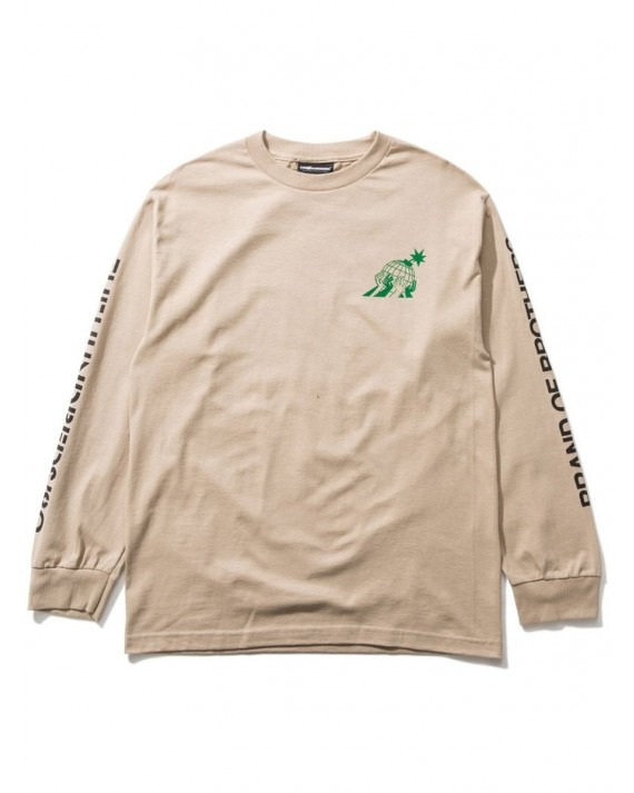 The Hundreds Worlds L/S T-Shirt - Sand