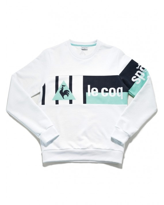 Le Coq Sportif x 24 Kilates Crew Neck Sweater - Optical White