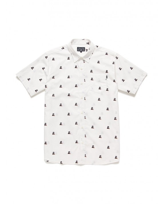 Acapulco Gold Mandril S/S Button Down - White
