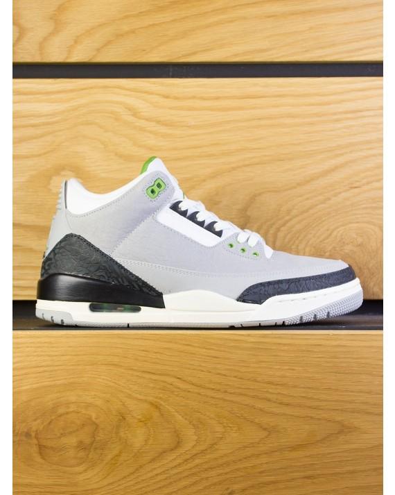 "Nike Air Jordan 3 Retro ""MJ x Tinker"" - Lt Smoke Grey Chlorophyll"