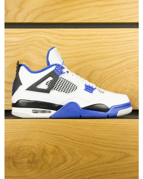 Nike Air Jordan IV Retro 'Motorsport' - White Game Royal Black