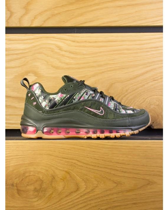 """Nike Air Max 98 Womens """"Floral Camo"""" - Sequoia Metallic Black"""