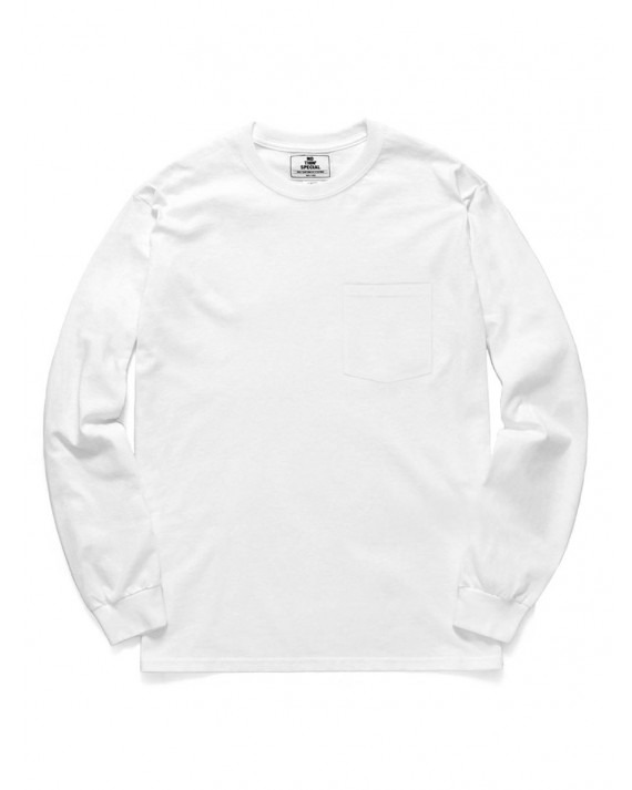 Nothin' Special Liquid Pocket L/S T-Shirt - White