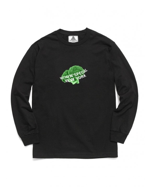 Nothin' Special Logo Broccoli L/S T-Shirt - Black