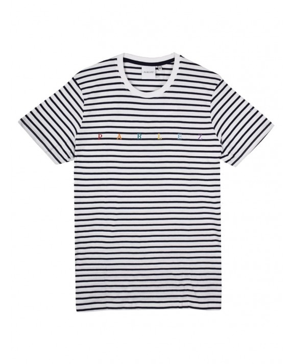 Parlez United T-Shirt - Navy Striped