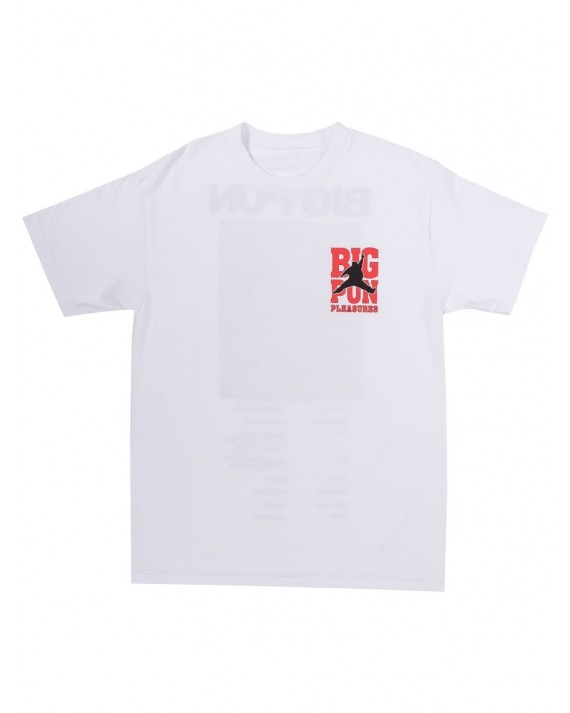 Pleasures x BIG PUN Stats T-Shirt - White
