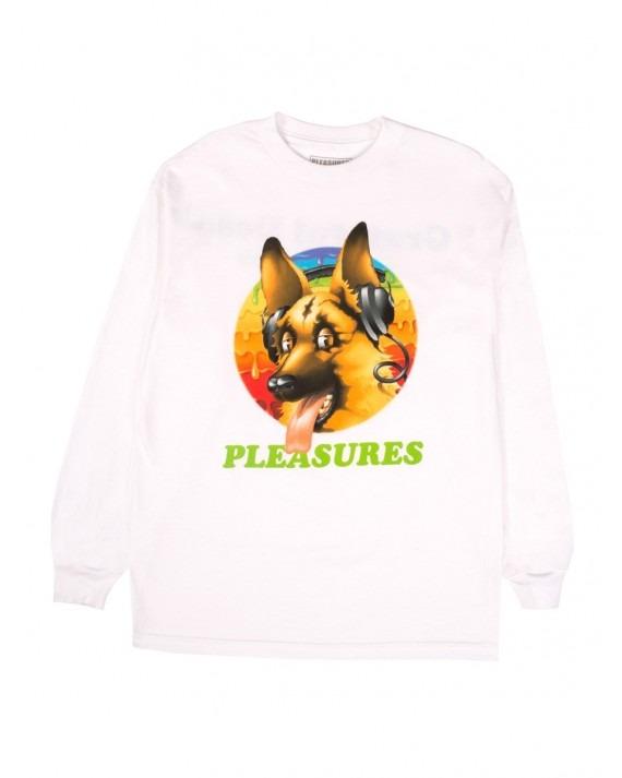 Pleasures x Grateful Dead Dog L/S T-Shirt - White