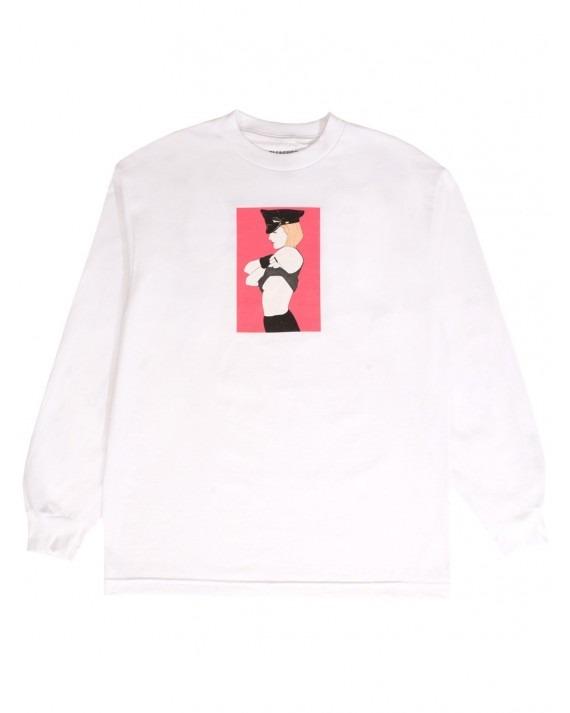 Pleasures x Patrick Nagel Arrested L/S T-Shirt - White