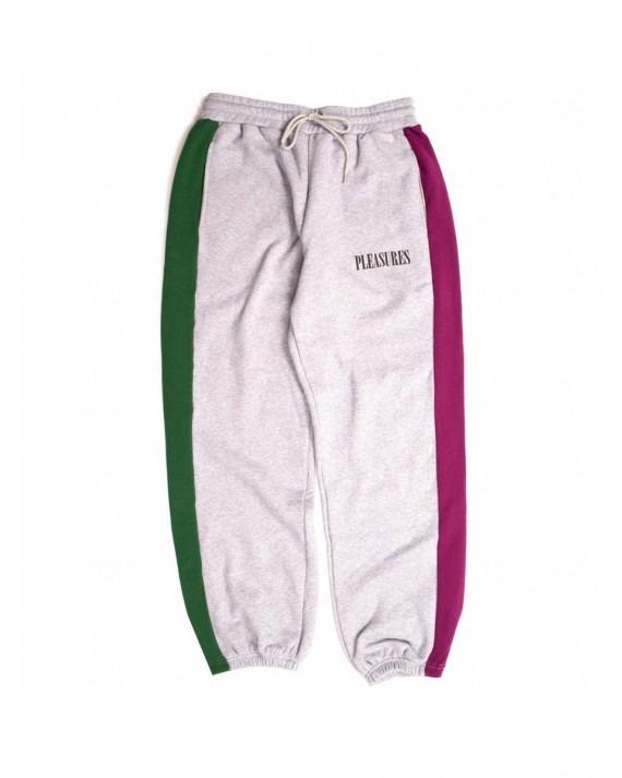 Pleasures Split Colour Sweatpants - Heather Grey
