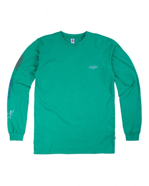 Post Details Disinformation Division L/S T-Shirt - Green