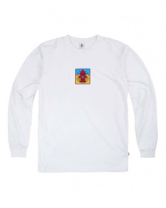 Post Details Pop Hydrant French Terry L/S T-Shirt - White
