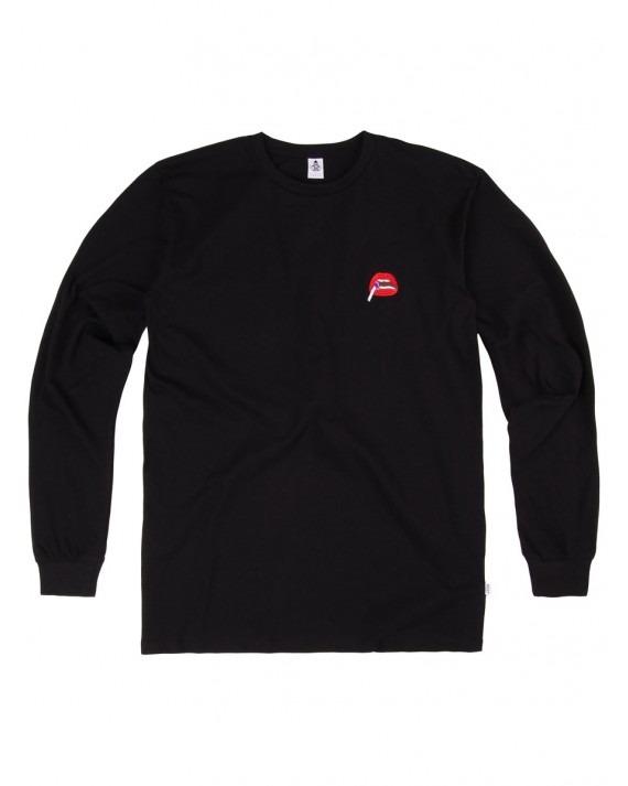 Post Details Kitsch Two L/S T-Shirt - Black