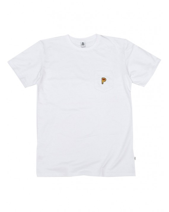 Post Details Pop P French Terry T-Shirt - White