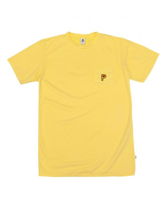 Post Details Pop P French Terry T-Shirt - Overdyed Yellow