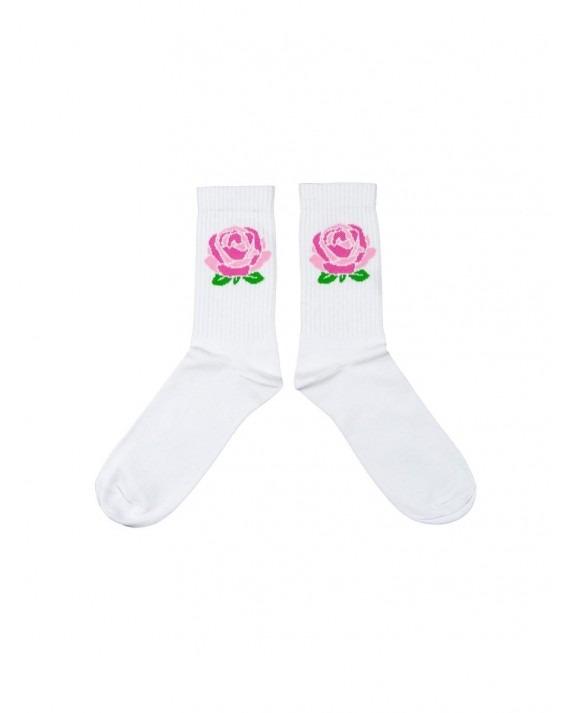 Post Details Rose Socks - White