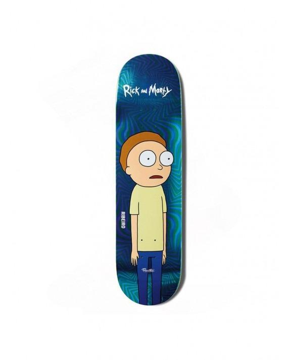 "Primitive x Rick & Morty 2.0 Ribeiro Morty Skateboard Deck 8"""