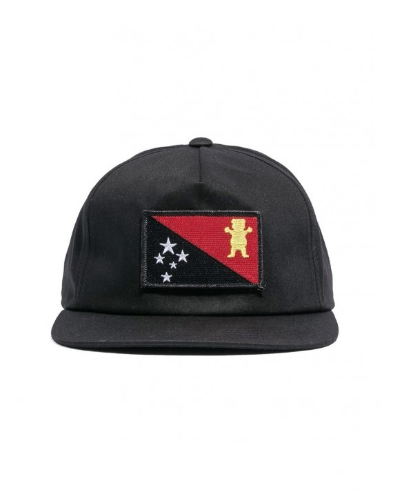 Grizzly x Black Scale Flag Snapback - Black