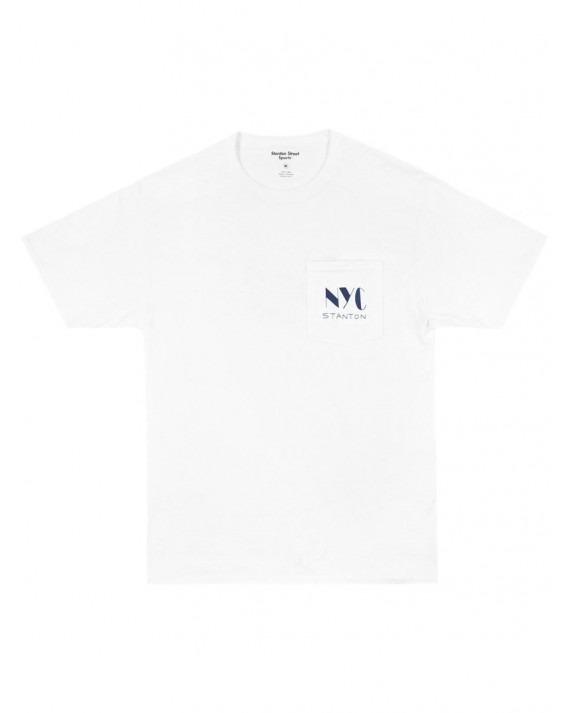 Stanton Street Sports Club Pocket T-Shirt - White