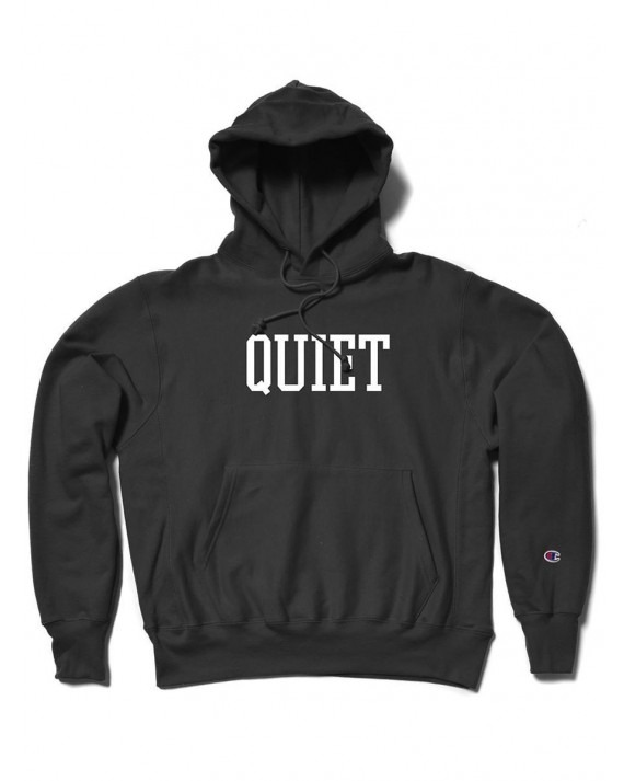 The Quiet Life Champion Reverse Weave Pullover Hoody - Black
