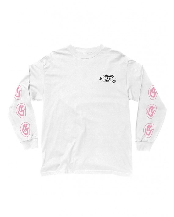 The Quiet Life Drunk As Hell L/S Tee - White