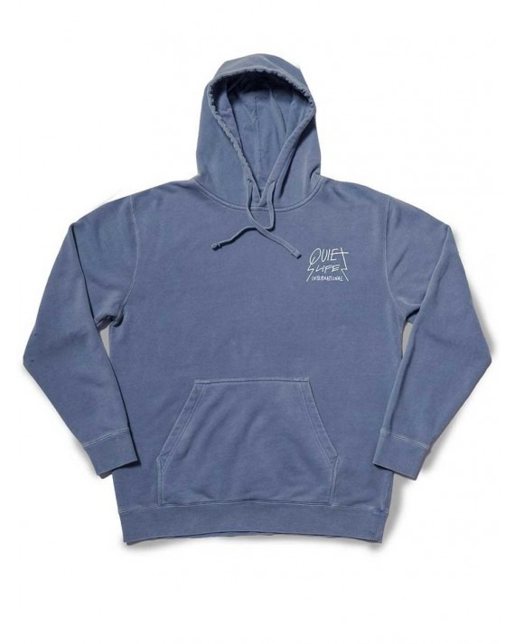 The Quiet Life Metal Pigment Dyed Pullover Hoody - Slate