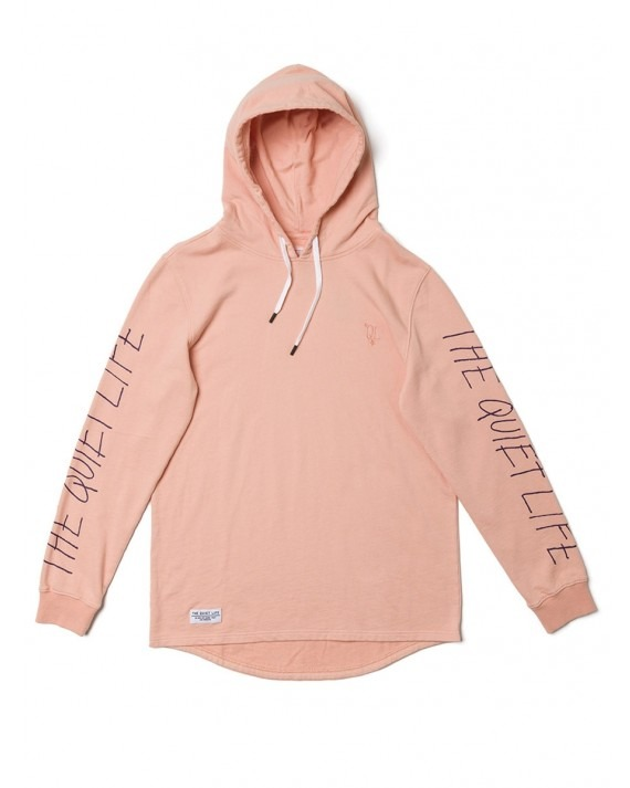 The Quiet Life Overdye Pullover Hoody - Light Coral