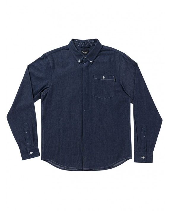 The Quiet Life Up All Night Button Down - Dark Denim