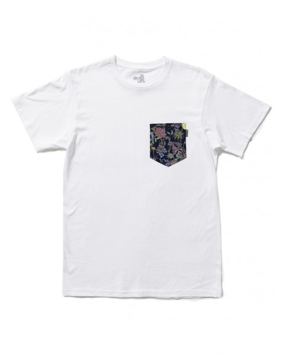 The Quiet Life Liberty Wild Wood Pocket T-shirt - White