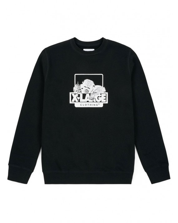 X-Large OG Doodle Chimp Crewneck - Black